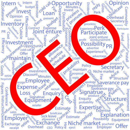 ceo: CEO,Word cloud art background