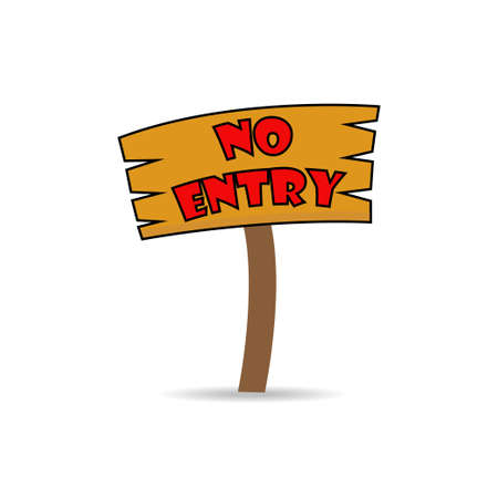 no entry: no entry on wooden sign