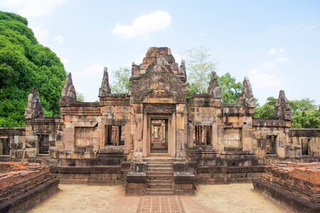 buriram: Khmer archaeological site of Prasat Muang Tam in Buriram Province,Thailand