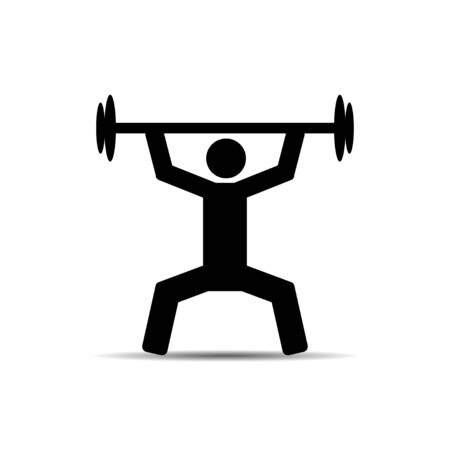 weightlifter: vector of Weightlifter icon