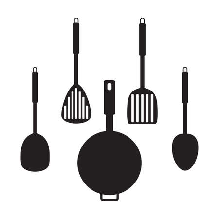 measuring spoon: vector of cooking icon