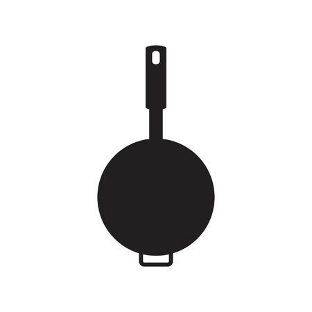 skillet: vector of pan icon Illustration