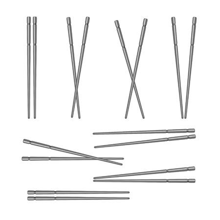 conjunto de palillos Ilustración de vector