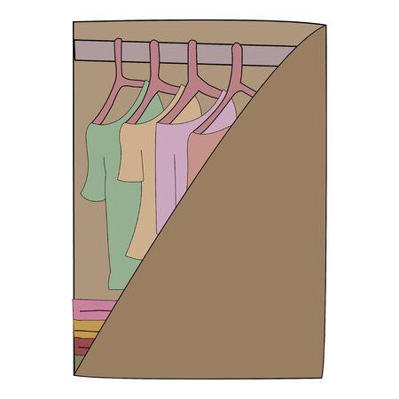 wardrobe: vector of wardrobe Illustration