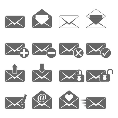 select all: e-mail icons