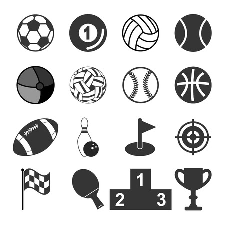 icons: sports icons Illustration