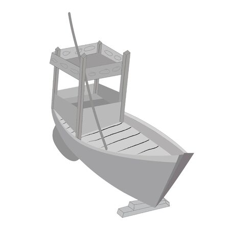 vector of fishing boat