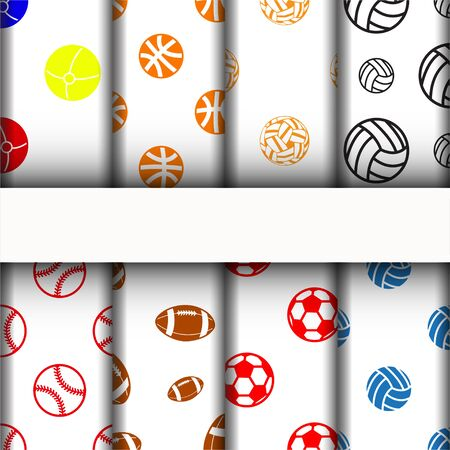 patterns and texture, sport icons set.