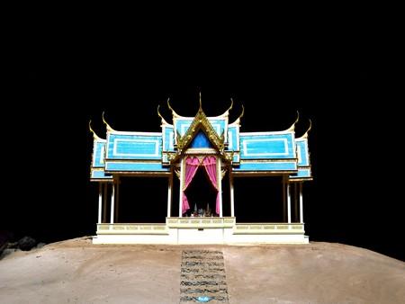 pavillion: Thai Pavillion in a huge cave Stock Photo
