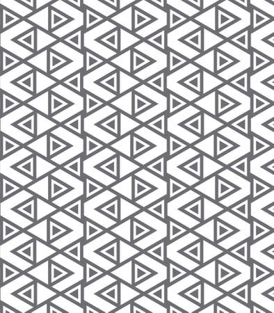 repeating: pattern, repeating geometric triangle and chevron shape Illustration