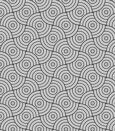 modular rhythm: pattern. Modern stylish texture. Repeating geometric circles tiles