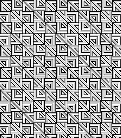 modular rhythm: pattern. Modern stylish texture. Repeating geometric triangular tiles Illustration