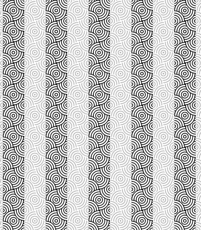 modular rhythm: Modern stylish texture. Repeating geometric rounded circle tiles Illustration