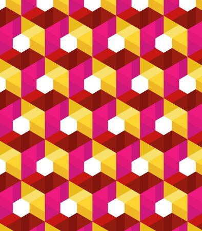 Vector pattern. Modern stylish texture. Repeating geometric tiles with hexagonal elements