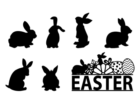 The silhouette of a rabbit for Easter.