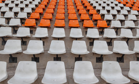 Empty seats in stadium