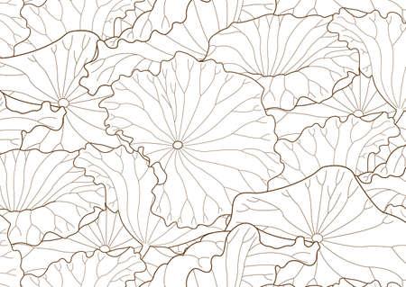 Seamless pattern of lotus leaf
