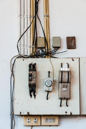 Old circuit breaker board