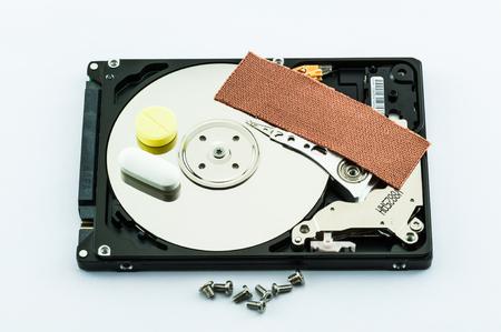 Hard disk recovery concept Reklamní fotografie