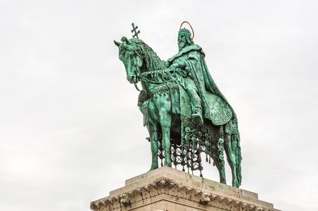 stephen: Statua di re Santo Stefano la Chiesa di Mattia, Budapest, Ungheria