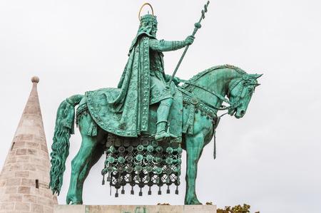matthias: King Saint Stephen statue at Matthias Church, Budapest, Hungary