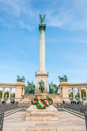 heros: Heros Square in Budapest, Hungary