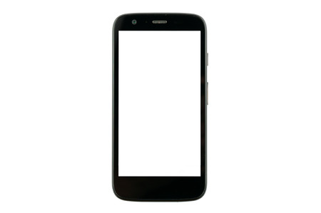 isolated: smart phone with blank screen isolated on white background