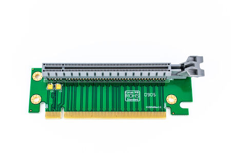 pci card: PCI Riser card isolate on white background