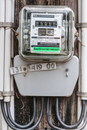 electric grid: Electric meter front view