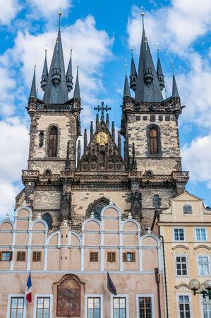 tyn: The Church of Our Lady before Tyn, Prague, Czech Republic
