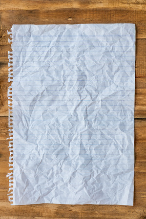 wrinkled note paper texture or background photo