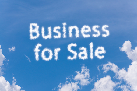 business for sale cloud text on blue sky, business concept