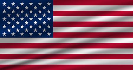 American flag waving vector eps 10 Vector