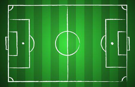 football coach: Soccer field chalk drawn style. illustration eps 10