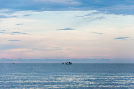 twilight: Sea view in twilight Stock Photo