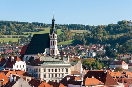 krumlov: St. Vitus Church in Cesky Krumlov Editorial
