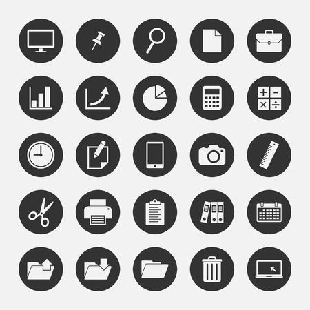 tea lamp: Office icon set 1
