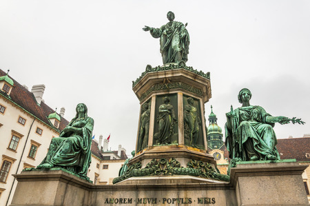 Monument to Emperor Franz I of Austria in the Hofburg in Vienna, Austria