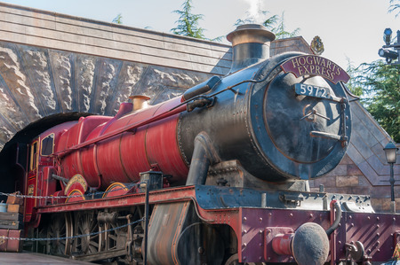 OSAKA, JAPAN - OCTOBER 26, 2015: The Hogwarts Express, The Wizarding World of Harry Potter in Universal Studios Japan. Universal Studios Japan, located in Osaka, is one of four Universal Studios theme parks.