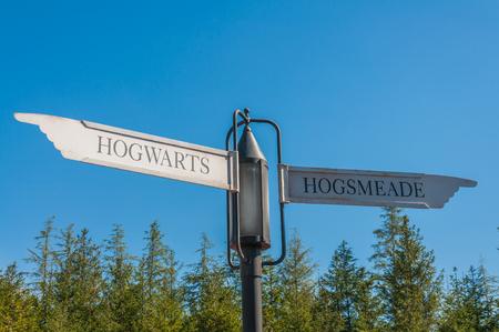 OSAKA, JAPAN - OCTOBER 26, 2015: The Wizarding World of Harry Potter in Universal Studios Japan. Universal Studios Japan, located in Osaka, is one of four Universal Studios theme parks. Editorial