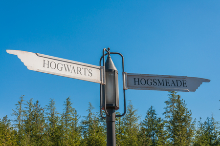 OSAKA, JAPAN - OCTOBER 26, 2015: The Wizarding World of Harry Potter in Universal Studios Japan. Universal Studios Japan, located in Osaka, is one of four Universal Studios theme parks. Sajtókép
