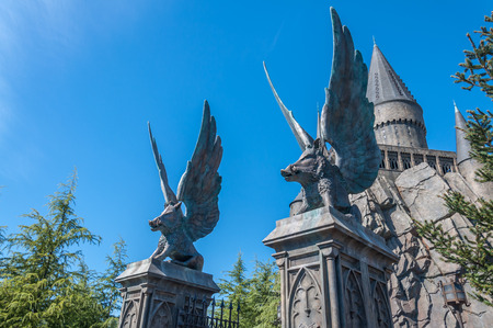 OSAKA, JAPAN - OCTOBER 26, 2015: The Wizarding World of Harry Potter in Universal Studios Japan. Universal Studios Japan, located in Osaka, is one of four Universal Studios theme parks. Editorial