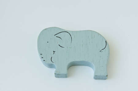 gray wooden elephant