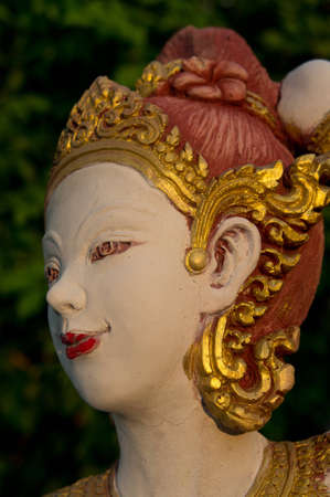 thai traditional lady statue