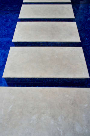 footstep: footstep over the pool