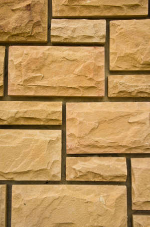 sand stone wall Stock Photo