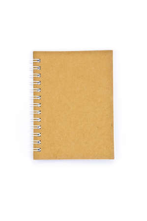 recycle paper notebook isolated in white