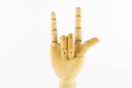 wooden hand: I love you