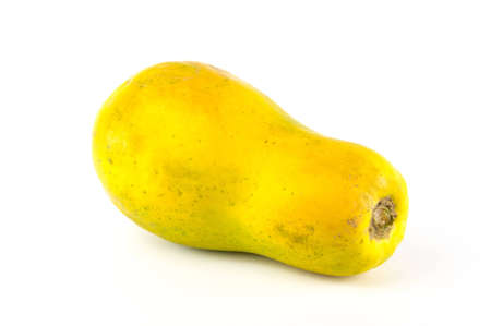 fruit: papaya isolated on white