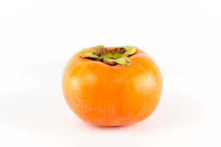fruit: persimmon isolated on white Stock Photo